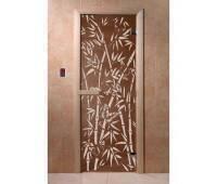 Дверь Doorwood Бамбук и бабочки 700*1900 , 6 мм (Хвоя)