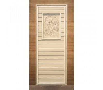 Дверь глухая липа с рисунком (кор.хвоя) 1900х700