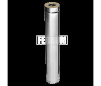 Двустенные дымоходы Ferrum AISI 430/0,5 + 430/0,5 Сэндвич 1 м