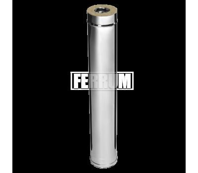 Двустенные дымоходы Ferrum AISI 430/0,8 + 430/0,5 Сэндвич 1 м