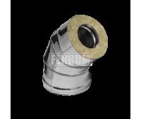 Двустенные дымоходы Ferrum AISI 430/0,5 + 430/0,5 Сэндвич-колено 135°