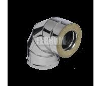 Двустенные дымоходы Ferrum AISI 430/0,8 + 430/0,5 Сэндвич-колено 90°