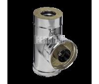 Двустенные дымоходы Ferrum AISI 430/0,5 + 430/0,5 Сэндвич-тройник 90°